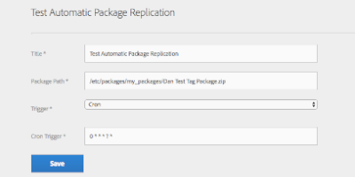 Automatic Package Replication