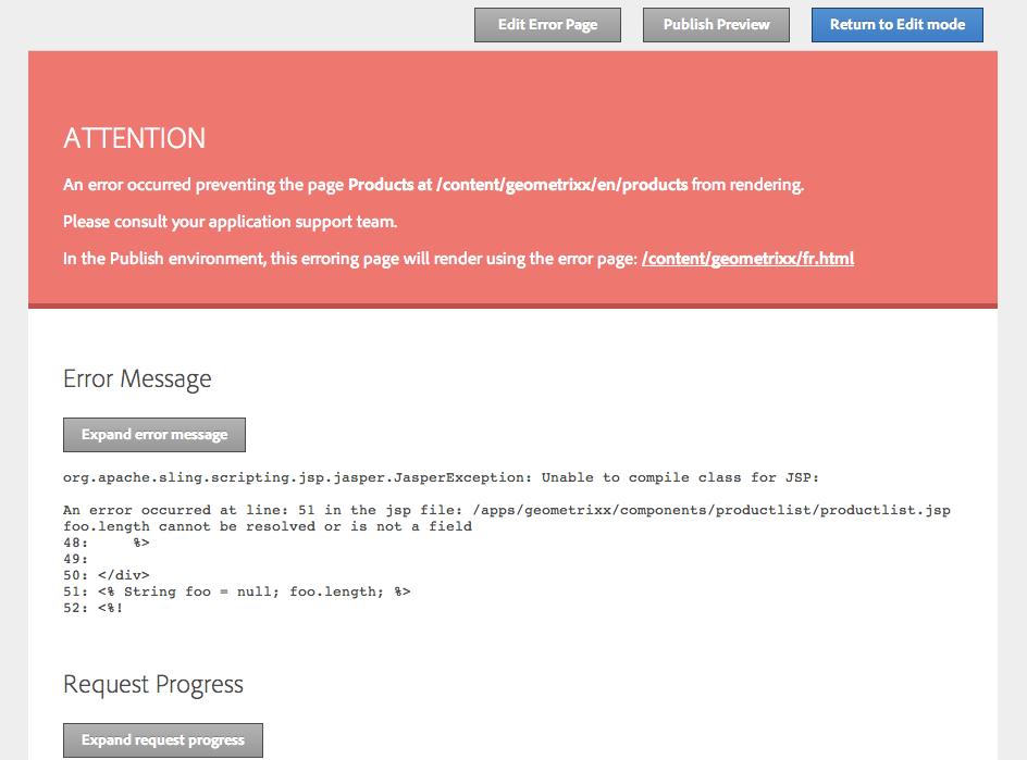 Error Page Handler